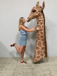 Giraffe neck for jungle or savannah decoration
