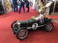 Hase im nostalgischen MG Automobil