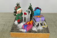 Cimabox Elfe auf Podest 120 x 80 cm
