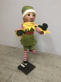 Figurengruppe Weihnachtselfen-mit Knopfaugen (8 Stück)