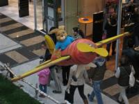 Rübenflugzeug mit Hasenpilot