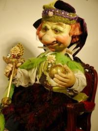 Trollkönig sitzend auf Thron - Christmasworld 2014