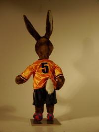 Hase in Holland-Fußballtriko